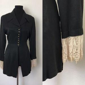 Vintage Black Jacket/Top 80s